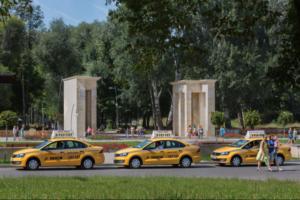 Жёлтое такси в Воронеже